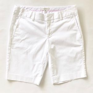 🌺6 Banana Republic Bermuda Shorts White Khaki 10""
